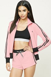 Forever 21 Lost Youth Graphic Shorts Pink Black