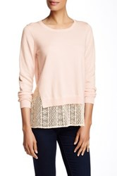 French Connection Lace Hem Sweater Pink