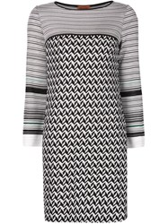 Missoni Chevron Pattern Knit Dress Black