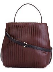 Dkny Pleated Tote Red