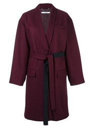 Givenchy Mid Length Belted Coat Pink Purple