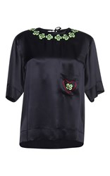 Gem Costanza Hearts And Shamrocks Top Black
