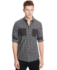 Kenneth Cole Reaction Long Sleeve Two Pocket Patch Shirt