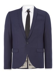 Noose And Monkey Skinny Fit Shawl Collar Jacket Navy