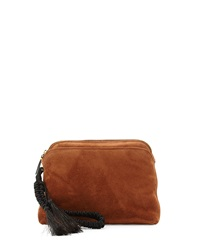 Suede Braided Strap Wristlet Pouch Bag The Row