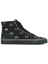 Kenzo 'Vulcano Eyes' Hi Top Sneakers Black