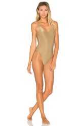 Vitamin A Leah One Piece Metallic Bronze