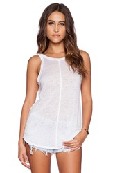 Chaser Scoop Back Tank White