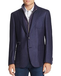 Robert Graham Layered Classic Fit Sport Coat Navy
