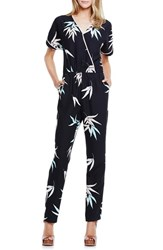 Women's Vince Camuto 'Floating Leaves' Short Sleeve Jumpsuit