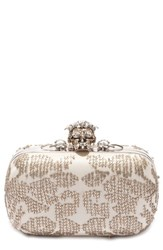 Alexander Mcqueen 'Classic' Crystal Skull Clasp Box Clutch