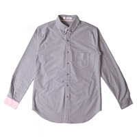 Andnd B Oxford Shirt Grey Pink Purple