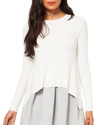 Miss Selfridge Cut About Rib Knitted Top Cream