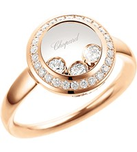 Chopard Happy Curves 18Ct Rose Gold And Diamond Ring