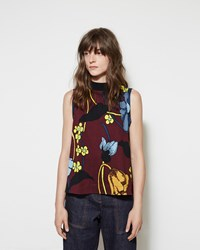 Marni Printed Mock Neck Tank