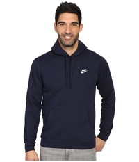 Nike Club Fleece Pullover Hoodie Obsidian Obsidian White Men's Fleece Navy