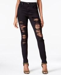 Rachel Roy Icon Ripped Black Wash Skinny Jeans