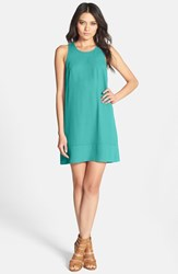 Leith Women's Racerback Shift Dress Green Cadmium