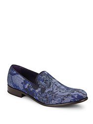 Robert Graham Prince Printed Loafers Blue
