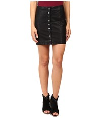 Free People Oh Snap Mini Vegan Leather Skirt Black Women's Skirt