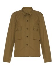 Christophe Lemaire Point Collar Linen And Cotton Blend Shirt Khaki
