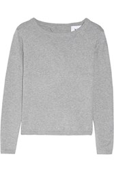 Banjo And Matilda Manhattan Open Back Cotton Blend Sweater Gray