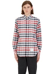 Thom Browne Checked Flannel Shirt Red