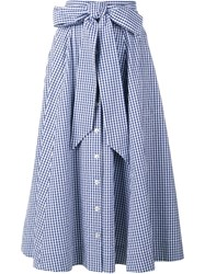 Lisa Marie Fernandez Gingham Check Full Skirt Blue