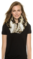 Theodora And Callum Hvar Scarf Black Multi