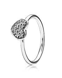 Pandora Design Pandora Ring Sterling Silver And Clear Cubic Zirconia Pave Heart Silver Clear