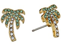 Kate Spade Out Of Office Palm Tree Studs Earrings Light Green Multi