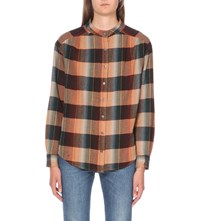 Closed Checked Flannel Shirt Amber