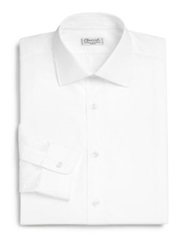 Charvet International Slim Fit Dress Shirt White Blue
