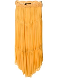 Jay Ahr Rope Detail Handkerchief Skirt Yellow And Orange
