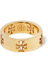 Tory Burch Gold Tone Ring Metallic