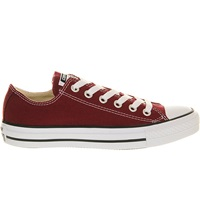 Converse All Star Low Top Canvas Trainers Maroon Canvas