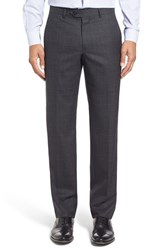 Nordstrom Men's Men's Shop Flat Front Plaid Wool Trousers