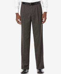 Perry Ellis Portfolio Classic Fit Double Pleat No Iron Melange Microfiber Dress Pants Castle Rock
