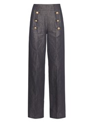 N 21 Linen And Cotton Blend Trousers