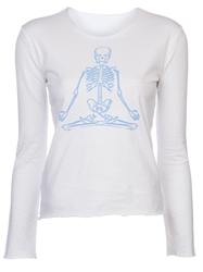 Lucien Pellat Finet Skeleton T Shirt White