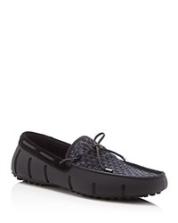 Swims Woven Braided Lace Loafers Black