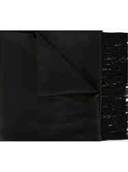 Haider Ackermann Fringed Scarf Black