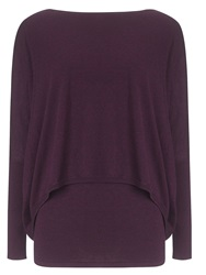 Phase Eight Charley Crop Double Layer Jumper Purple