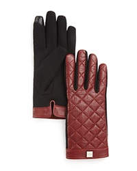 Lauren Ralph Lauren Quilted Tech Gloves Oxblood