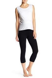 Electric Yoga Maternity Foldover Capri Black