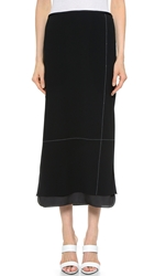 Edun Pique Double Layer Maxi Skirt
