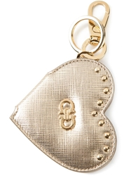 Salvatore Ferragamo Heart Keyring Metallic