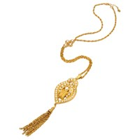 Ben Amun Pearl Tassel Necklace Gold