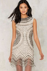Nasty Gal Collection Swingin' In The Rain Fringe Dress Multi