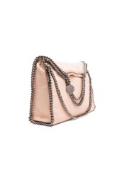 Stella Mccartney Falabella Shaggy Deer Fold Over Tote In Neutrals Pink